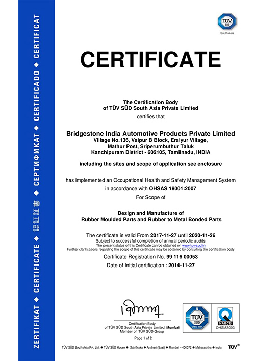 Health and Safety management Certificate